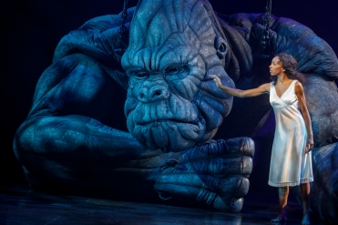 "Christiani Pitts as ""Ann Darrow"" and ""King Kong"" Photo by Joan Marcus"